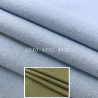 Fabric / fabric / handmade DIY fabric Wool Army green blue Loose shear piece Solid color printing and dyeing clothing Europe and America
