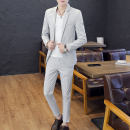 man 's suit Fashion City 831 (long sleeve suit) Khaki + T-shirt Kapanda thin 3XL KPDTZ8023 Polyester fiber 94.5% polyurethane elastic fiber (spandex) 5.5% Summer of 2018 Pure e-commerce (online only)
