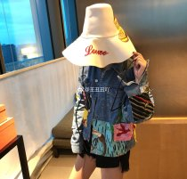 short coat Fall of 2018 S M L blue Long sleeve Short paragraph conventional Single Loose street other Cartoon anime 18-24 years old 96% and above cotton cotton