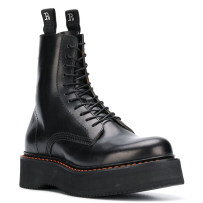Boots 34 35 36 37 38 39 40 Black apricot Superfine fiber Yi Ou Du Middle heel (3-5cm) Muffin bottom Superfine fiber Short tube Round head Superfine fiber Superfine fiber Winter of 2018 Back zipper Europe and America rubber Solid color Martin boots Adhesive shoes Microfiber skin winter Cross bandage