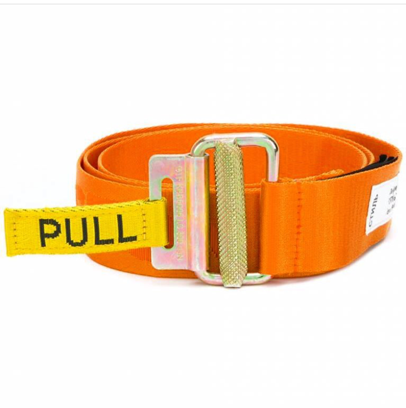 Belt / belt / chain other White, yellow, blue, black, orange, pink. belt Universal Hip-hop Automatic buckle Single circle alloy youth Embossing