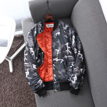 cotton-padded clothes Grey camouflage My collaterals S M L Youth fashion thickening routine Other leisure standard Baseball collar youth zipper American leisure