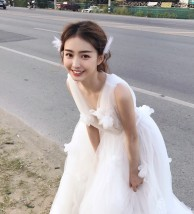 Wedding dress Summer of 2018 30cm stroll small Trailer S M L XL one thousand and thirty-five