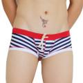 Men's swimsuit Seobean / hibin Large flat angle of stripe M (1'9-2'2) l (2'2-2'5) XL (2'5-2'8) boxer SEO45 nylon