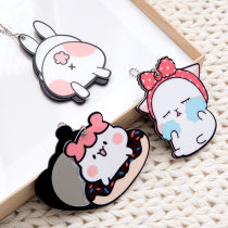 Make up mirror Bow rabbit doughnut rabbit back other Personal washing / cleaning / care Without light At home other other D2745 Cartoon Korean style