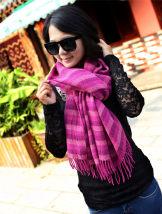 Scarf / silk scarf / Shawl Pashmina  Rose Pink deep blue red blue
