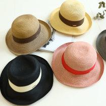 Hat другое Розовые, розовые, черные М (56-58 см) Соломенная шляпа Весна Лето Осень женщина Пара средних лет купол 25-29 лет 30-34 лет 35-39 лет Широкополый путешествующий