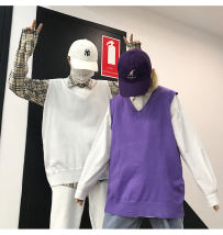 Vest Autumn of 2018 White purple black M L routine V-neck commute Solid color other 18-24 years old Other / other 51% (inclusive) - 70% (inclusive)