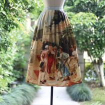 skirt Summer 2016 XS waist 60 s waist 64 m waist 68 l waist 72 XL waist 76 Spot delivery is expected to take about 15 days Mid length dress Rococo Natural waist Fluffy skirt character