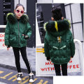 Cotton padded jacket Rain and stars Army green Adult s Adult m 100cm 110cm 120cm 130cm 140cm 150cm 160cm No detachable cap Cotton 96% and above female thickening Zipper shirt leisure time There are models in the real shooting lattice Class B Crew neck Cotton liner 20904M Cotton 100%