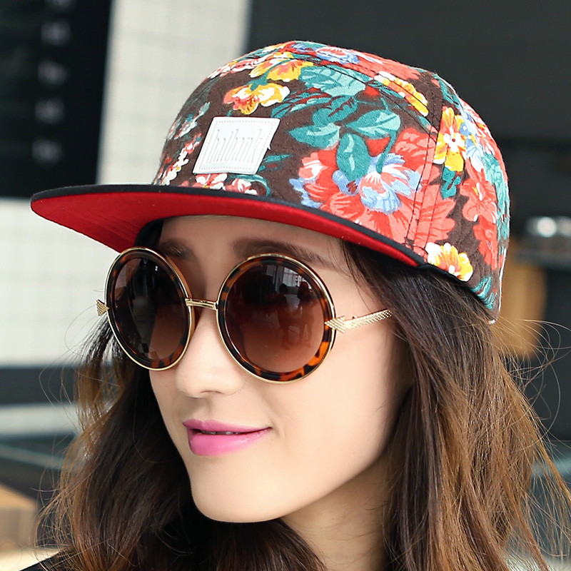 Hat Cotton polyester Black blue brim coffee brim wine red brim Adjustable one size fits all (56-58cm) Baseball cap winter female Sweet and lovely dome