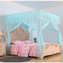 Mosquito net Богатый желтый теплый порошок романтический фиолетовый элегантный нефрит святой белый озеро вода синий 1,2 м (4 фута) кровать 1,5 м (5 футов) кровать 1,8 м (6 футов) кровать 2,0 м (6,6 фута) кровать 1,8 * 2,2 м кровать Дворцовые сети 3 двери Санкт-Амбай общий Нержавеющая сталь