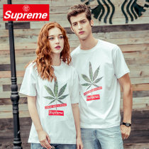 T-shirt White black S M L XL 2XL Summer of 2018 Short sleeve Crew neck Straight cylinder Regular routine commute cotton 96% and above 18-24 years old Simplicity youth Supreme ONYC SU1820