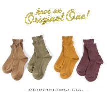 Socks / base socks / silk socks / leg socks female HENNY RUE Average size Navy bean green turmeric milk white purple dark grey black camel 1 pair routine Short tube winter Simplicity Solid color cotton