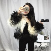 leather and fur Winter of 2018 Other / other Gradual black gradual yellow S M L XL have cash less than that is registered in the accounts Long sleeves commute Crew neck routine Three buttons Imitation fur Korean version 001 18-24 years old Splicing 91% (inclusive) - 95% (inclusive)