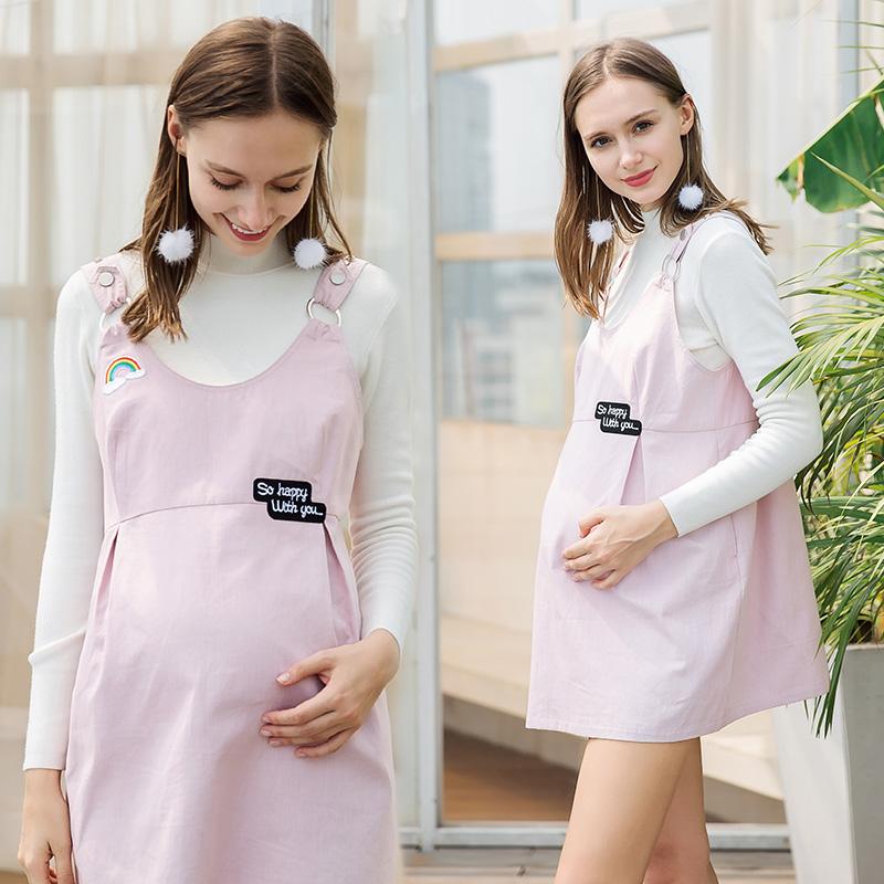 Dress Joyncleon / Jingqi Jj0180 denim jj0187 light pink jj0188 light pink jj0167 pink jjj0167 Navy cyan jjj0167 taro purple jjj0180 denim + radiation proof belly bag jjj0188 light pink + radiation proof belly bag LXLXXL Korean version Sleeveless routine summer jj0187X