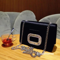 Bag clutch bag silk Small square bag INGLIDLADY brand new One Shoulder Messenger in hand