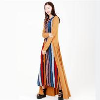 cheongsam Summer of 2018 Warm stripe S M L XL