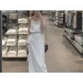Dress Autumn of 2018 French classic white (in stock) French classic white (booking 10-15 working days) S M longuette singleton  Sleeveless commute