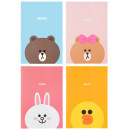 Notebook / Notepad LINE FRIENDS Others Art paper [A5] Brown (small) [A5] choco (small) [A5] Cony (small) [A5] Sally (small) [B5] Brown (large) [B5] choco (large) [B5] Cony (large) [B5] Sally (large) NOTEBOOK Animals in Japan and Korea General notebook Soft copy Single book A5 Office ledger other