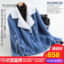 leather and fur Autumn of 2018 Ys.youths/youshi Starry blue SM routine Nine point sleeve commute other routine other Korean version YS868527 30-34 years old Fur collar Pure e-commerce (online only) Other 100%
