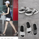 Sandals three thousand four hundred and thirty-five trillion and three hundred and sixty-three billion seven hundred and thirty-eight million three hundred and ninety-four thousand and forty-one Black sandals silver sandals silver slippers black slippers The dish loves the sea Elastic cloth Barefoot