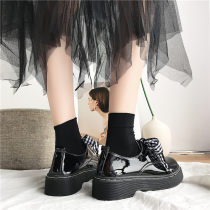 Low top shoes 35 36 37 38 39 OVOG black Round head Muffin bottom PU Shallow mouth Flat heel (1cm or less) PU Summer of 2018 Trochanter Korean version Adhesive shoes Youth (18-40 years old) Solid color rubber Single shoes Roman style PU daily 0702 zero point seven two One