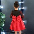 Children's dress Red cotton lining with big Pearl hairband red plush with big Pearl Hairband female 110cm 120cm 130cm 140cm 150cm T-shirt by T-shirt full dress A21 Class B Cotton 90% viscose (viscose) 10%