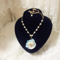 Necklace other 51-100 yuan DIY Cyan other colors custom cream light blue pink light purple