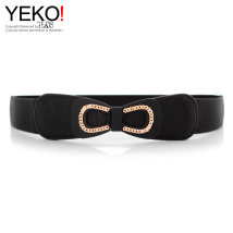 Belt / belt / chain Pu (artificial leather) White red black female belt Sweet Single loop Youth, middle age a hook bow soft surface 3.8cm alloy alone Yeko YYxxc167 Autumn and winter 2017 yes