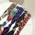 Scarf / silk scarf / Shawl polyester Atmosphere black chain long scarf fashion Leopard Print Long Scarf deep blue red lip long scarf flower color long scarf gorgeous blue green color matching long scarf temperament coffee leather buckle long scarf embroidered red cat long scarf currency decorate 15cm