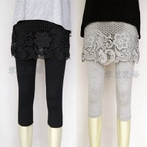 Leggings Summer of 2018 Light grey black One size (suggested hip 25-27) large (suggested hip 28-30) oversize (suggested hip 31-33) Thin money Capris / Capris K181002 Other / other pure cotton 91% (inclusive) - 95% (inclusive)
