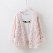 sweater Autumn 2016 One size fits all (tmall good quality) Pink gray blue Long sleeves Cardigan singleton  Medium length V-neck Regular commute routine other Straight cylinder Regular wool Keep warm and warm 18-24 years old Yingfuni YFNT1095 Polyacrylonitrile 80% polyester 20%