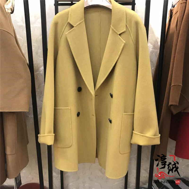 Windbreaker Winter 2017 S M L Brown yellow grey apricot Long sleeves routine commute double-breasted tailored collar routine Solid color Korean version