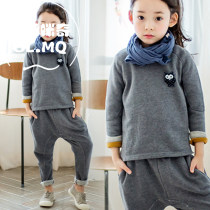 suit Gulumiqi Dark grey light grey 100cm [2-piece set] 110cm [2-piece set] 120cm [2-piece set] 130cm [2-piece set] 140cm [2-piece set] 150cm [2-piece set] female spring and autumn motion Long sleeve + pants 2 pieces routine There are models in the real shooting Socket nothing Solid color Class B