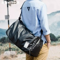 Travel bag No LIVEBOX EN DIRECT PVC small big Black (spot) travel Bag type Soft handle Japan and South Korea Double root No Pure color Zipper pocket phone bag sandwich zipper bag Polyester youth Hit color S-027 male Spring Summer 2017 Pure electricity supplier (only online sales)