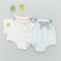 Jumpsuit / climbing suit / Khaki Baby brocade friend Class A female 7702 purple 7702 lotus pink purple green 66cm73cm80cm cotton summer Sleeveless Short climb leisure time No model nothing Cotton 100% Socket five thousand seven hundred and nineteen Summer of 2018