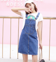 skirt Summer of 2018 2XL,S,M,L,XL Black, pink, off white, light blue, dark blue Short skirt High waist Strapless skirt other Type A 31% (inclusive) - 50% (inclusive) other Other / other See description
