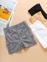 underpants female Reinforcement - Black reinforcement - light complexion reinforcement - light gray white black complexion Lou gege 1 nylon boxer youth
