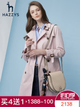 Windbreaker Spring of 2018 160/84A155/80A165/88A170/92A Navy beige light pink Long sleeves routine Medium length commute double-breasted routine Hazzys