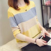Wool knitwear coffee L