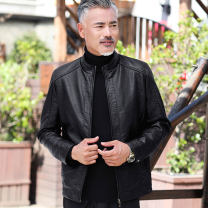 leather clothing Others Business gentleman 180/XL,195/XXXXL,190/XXXL,185/XXL,170/M,175/L routine Leather clothes stand collar easy zipper autumn leisure time old age PU tide YH-3602 Cloth hem Side seam pocket Leather clothes No iron treatment