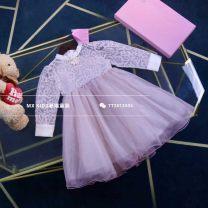 Dress Graph color female Other / other 100cm,110cm,120cm,130cm,140cm Cotton 100% spring and autumn princess Long sleeves Solid color cotton A-line skirt Four, five, six, seven, eight