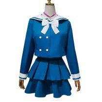 Cosplay women's wear Full set includes: Top & Skirt & Socks & bow tie& L