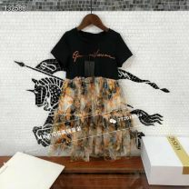 Dress Dress female Other / other 110cm,120cm,130cm,140cm,150cm,160cm Cotton 100% No season Chinese style cotton A-line skirt 6 years old Chinese Mainland