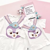 T-shirt Other / other female summer Short sleeve Crew neck leisure time nothing cotton Cartoon animation Sweat absorption 12 months, 18 months, 2 years old, 3 years old, 4 years old, 5 years old, 6 years old, 7 years old