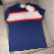 T-shirt Youth fashion White, dark blue routine S,M,L,XS Short sleeve Crew neck standard daily Four seasons