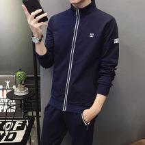Leisure sports suit winter M,L,XL,2XL,3XL,4XL Black, dark blue three quarter sleeve Understand brother trousers WSCY-915