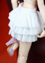 BJD doll zone Dress 1/3 Over 14 years old goods in stock White~ 3-point women's size ~ back zipper ~ DD / dy and other slim waist women ~ 4-point MSD size nothing
