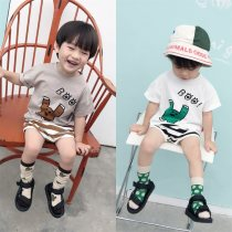 T-shirt White, spot, grey, spot IVAN'S KIDS 73, 80 (model fit) 90, 100, 110 (Ivan fit) 120, 130, 140 neutral summer Short sleeve Crew neck leisure time There are models in the real shooting nothing other